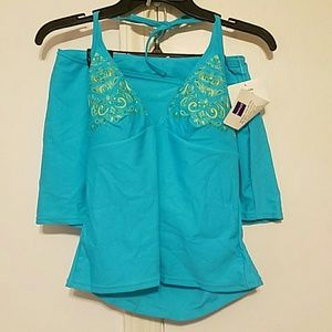 NWT Ocean Dream Skirted Tankini Size 10